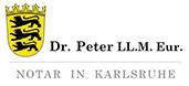 Notar Dr. Peter Logo